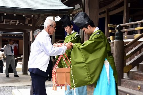 2018となるマコモタケ及びマコモ活用食品の伊勢神宮奉納4